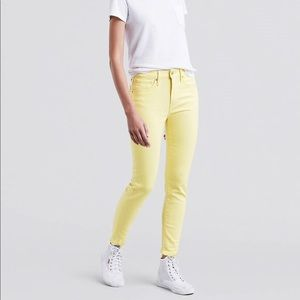 721 Levi's High Rise Yellow Jeans